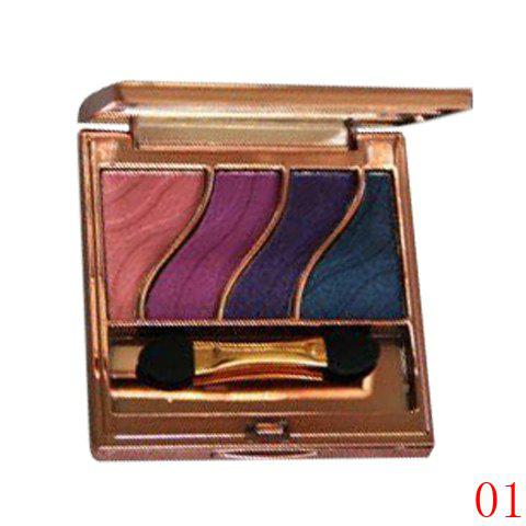 Shops Stylish 4 Colours Smooth Mineral Eyeshadow Palette with Mirror and Brush