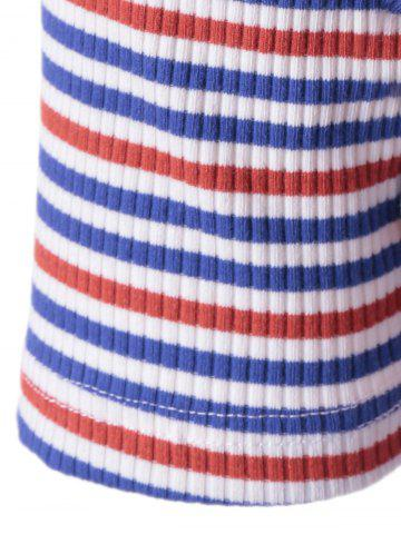 Sale Fashionable Stripe Knitting Tee For Women - L COLORMIX Mobile