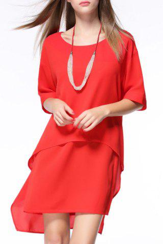Outfits Loose High-Low With Necklace Dress
