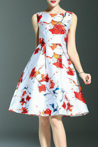 Hot High Waist Floral Print Dress