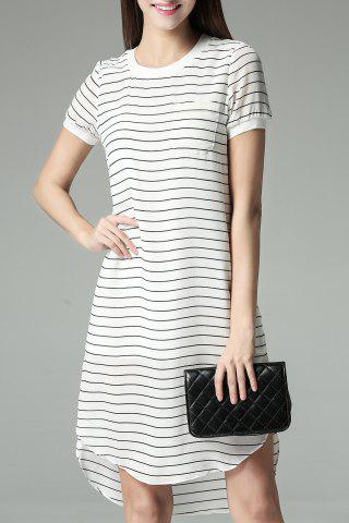 Chic One Pocket High Low Dress