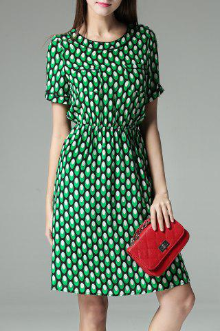 Shops Elastic Waist Polka Dot Dress