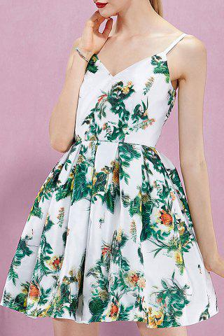 Cheap Floral Backless Cami Dress