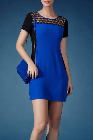 Sale Cut Out Hit Color Sheath Dress