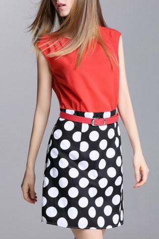 New With Belt Polka Dot Dress