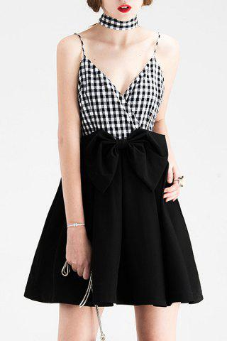 Fashion Short Plaid A Line Slip Dress