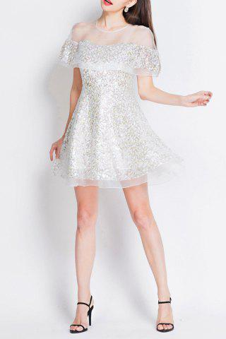 Best Sequined Mesh Sheer Mini Dress