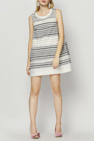 Fashion Mini Stripe Trapeze Dress