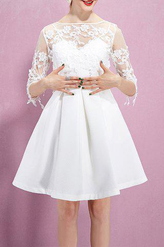 Cheap Lace Flower Embroidered See Through Dress