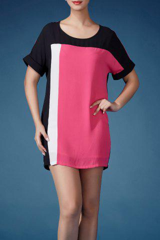 Store Color Block Mini Tee Dress