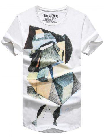 Outfit Men's Geometric Shapes Printing Short Sleeves T-Shirt