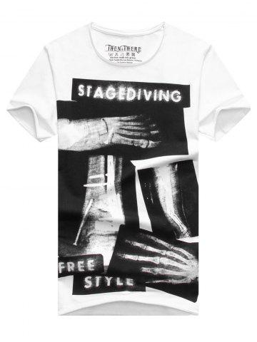 Online Fashion Men's X-ray Printing Short Sleeves T-Shirt