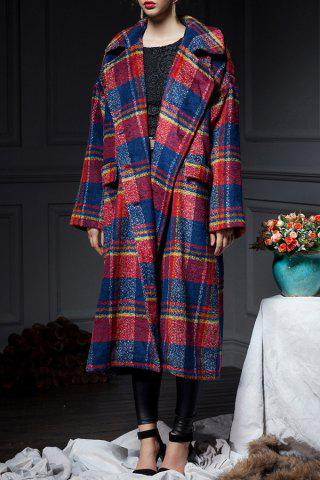 Best Plaid Wool Blend Coat with Belt