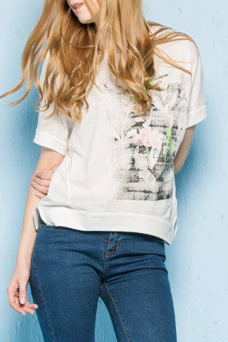 Outfits Short Sleeve Printed Loose T-Shirt