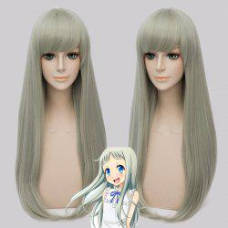Stylish Synthetic Honma Meiko Cosplay Straight Long Wig