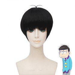 Fashion Karamatsu Synthetic Straight Full Bang Short Cosplay Wig