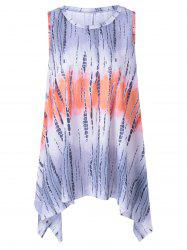 Fashionable Scoop Neck Ombre Dress With Asymmetric For Women