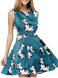 Sleeveless Floral Race Day Dress