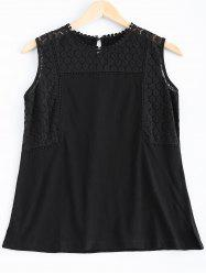 Casual Openwork Lace Tank Top For Women -