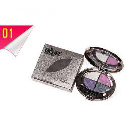 Stylish 4 Colours Smooth Shimmery Diamond Eyeshadow Palette with Mirror and Brush -