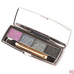 Stylish 4 Colours Earth Colors Brightening Shimmery Diamond Eyeshadow Palette with Mirror and Brush -