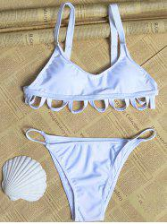 Convertible Scalloped String Bikini -