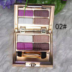 Stylish 4 Colours Pearl Matte Baked Eyeshadow Palette with Mirror and Brush -