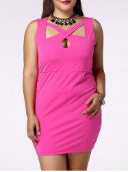 Plus Size Sleeveless Cut Out Bandage Dress