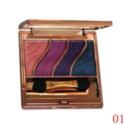 Stylish 4 Colours Smooth Mineral Eyeshadow Palette with Mirror and Brush -