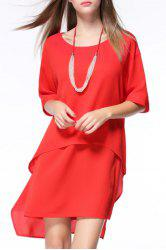 Loose High-Low With Necklace Dress -