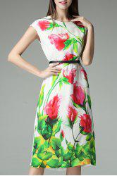 Flower Print Belted Dress -
