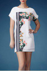 Floral Pattern Mini Dress -