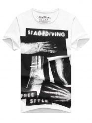 Fashion Men's X-ray Printing Short Sleeves T-Shirt -