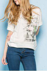 Short Sleeve Printed Loose T-Shirt -