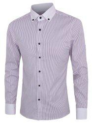 Casual Striped Button-down Plus Size Shirts For Men -