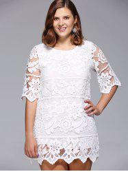 Lace Floral Plus Size Dress