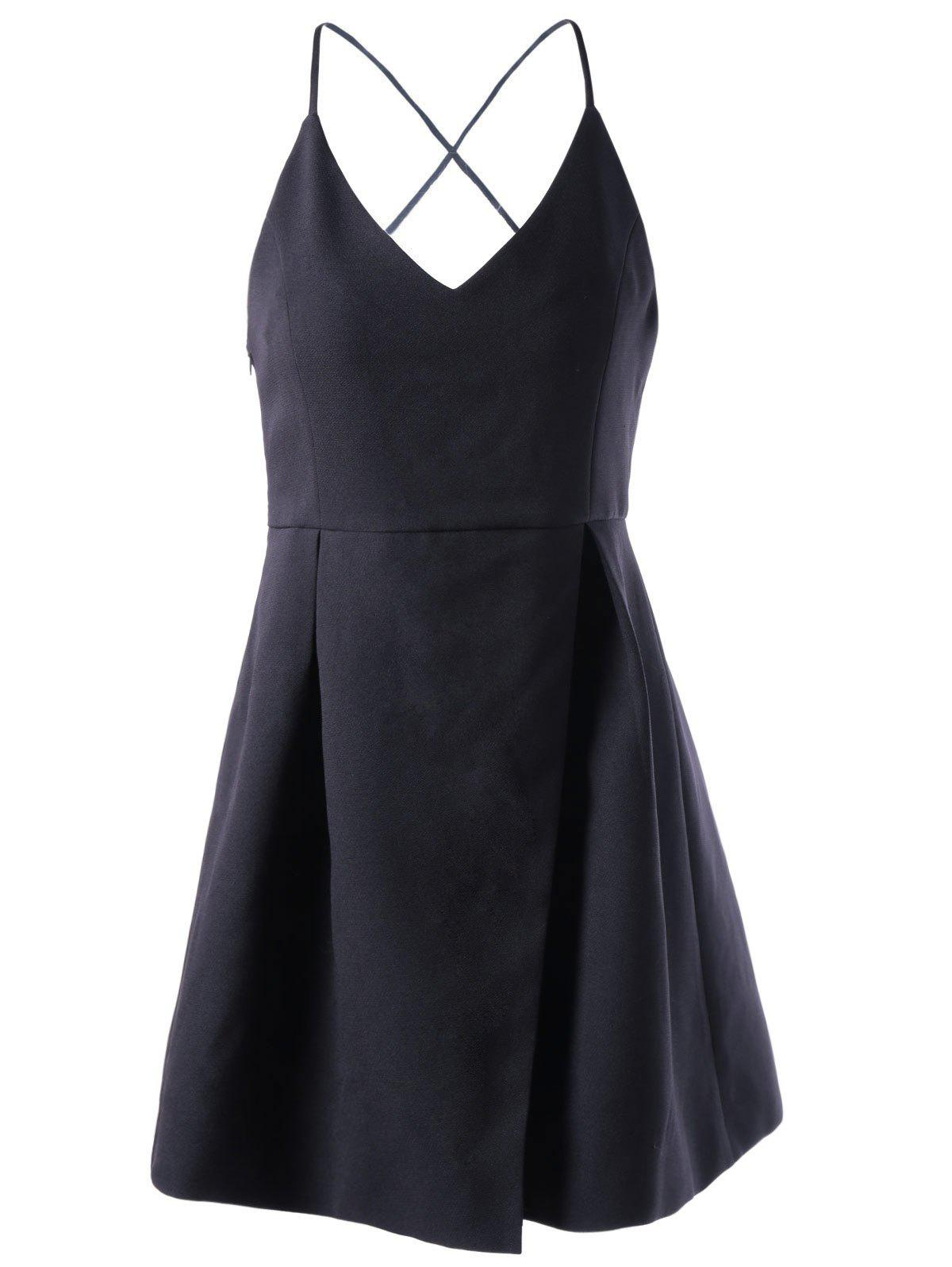 Outfit Spaghetti Straps Cute Skater Dress