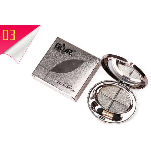 Buy Stylish 4 Colours Smooth Shimmery Diamond Eyeshadow Palette with Mirror and Brush