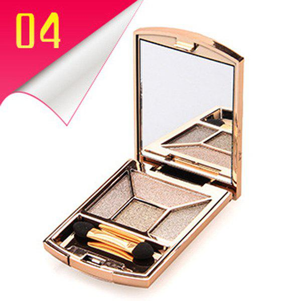 Latest Stylish 4 Colours Rhinestone Earth Colors Diamond Eyeshadow Palette with Mirror and Brush
