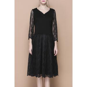 V Neck Top and Midi Lace Skirt -