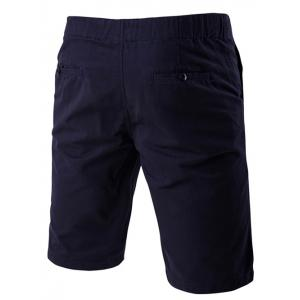 Lace-Up Solid Color Stylish Straight Leg Shorts For Men -