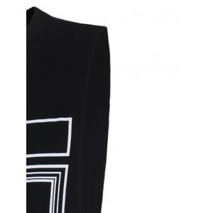 Fashion Letters Printed Solid Color Tank Top For Men - BLACK 2XL