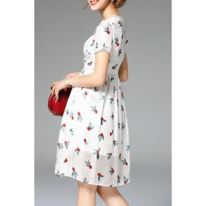 Embroidery Hem Hollow Out Dress -
