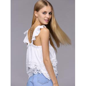 Sweet Flounce Hem Layered Solid Color Tank Top For Women -