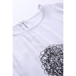 Sheep Graphic Tee with Back Zip -