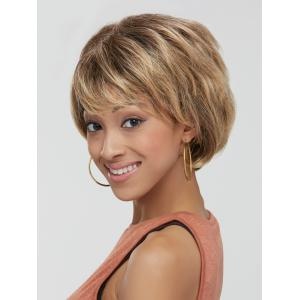 Mixed Color Synthetic Fluffy Wave Short Layered Cut Wig