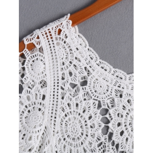 Stylish Round Neck Crochet Top For Women -