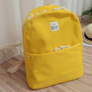Simple Zippers and Canvas Design Backpack For Women -