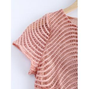 Fashionable Lace Round Neck Openwork Top For Women -