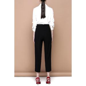 Zippered Black Empire Waist Pants -